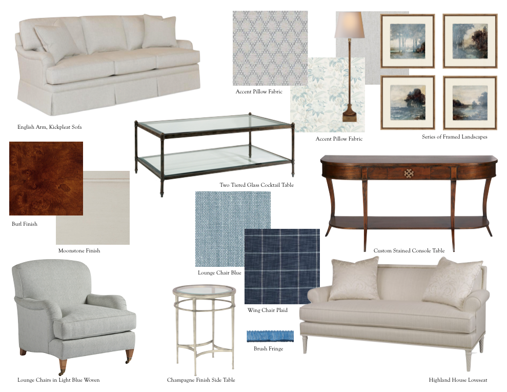 Concept Board : Client Living Room Selections