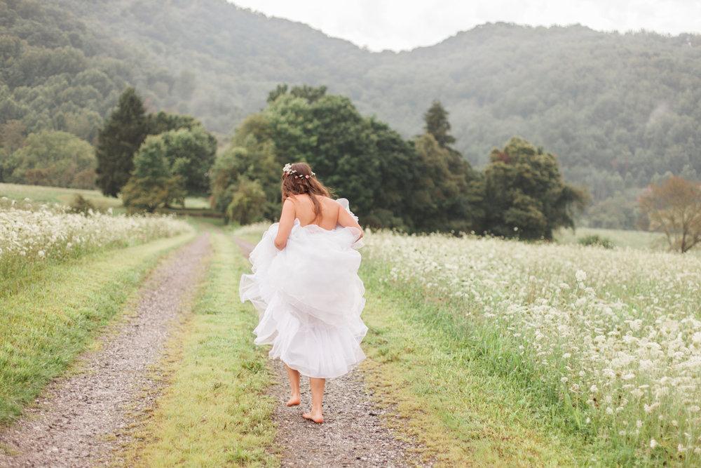 Whimsical Bridal Session in Asheville, North Carolina.