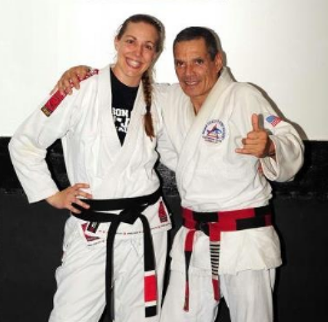 Black belt, Christina Del Guidice (formerly Thomas): Only female black belt under Grand Master Relson Gracie, co-founder of Relson Gracie Austin (2000-2015) Relson's only academy in Austin and first in Texas, Sole owner of Relson Gracie Austin (2011-2015) & Founder of Empire JiuJitsu in Austin, Texas.