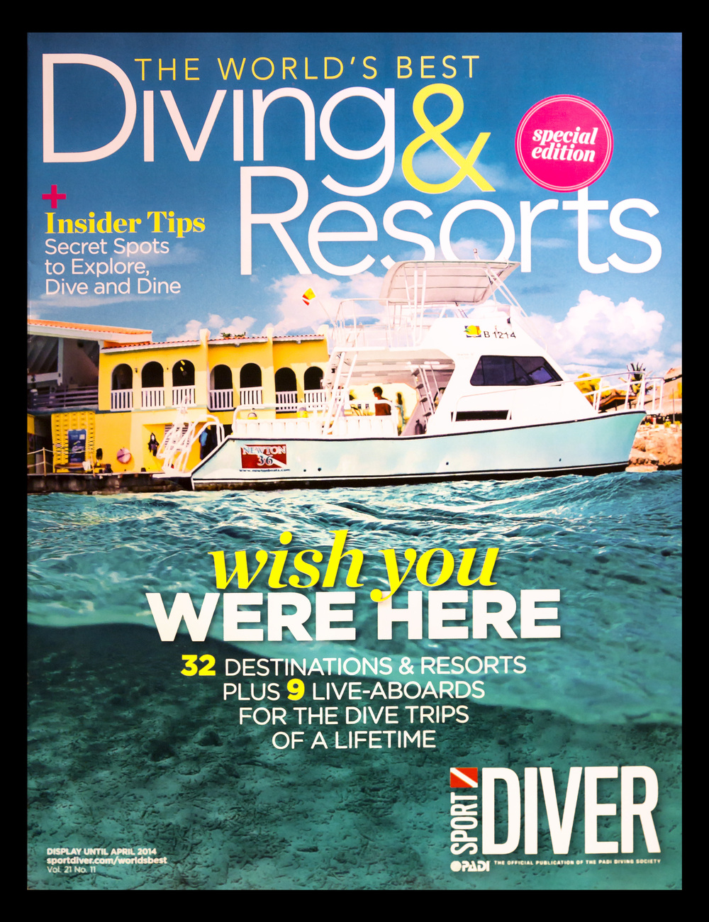 Beth Watson's cover shot Sport Diver Magazine.