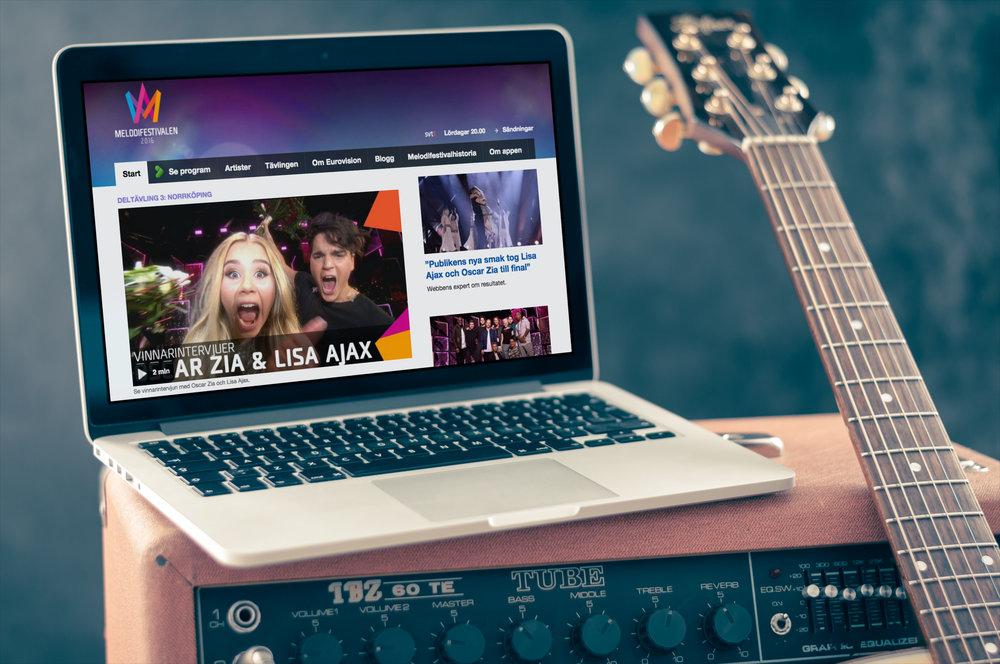Ovan - UX Design, Art Direction och konceptutveckling för SVT och Melodifestivalen.