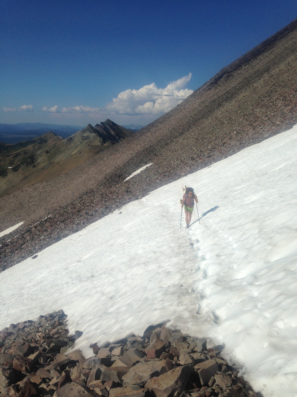 Maybe the last snowy traverse?