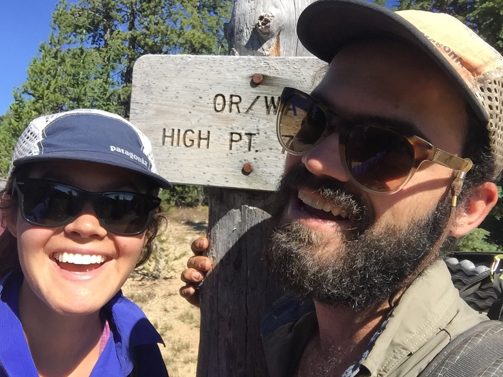 Highest point on the trail in Washington and Oregon 7560ft. Not much compared to what's coming up next in California!