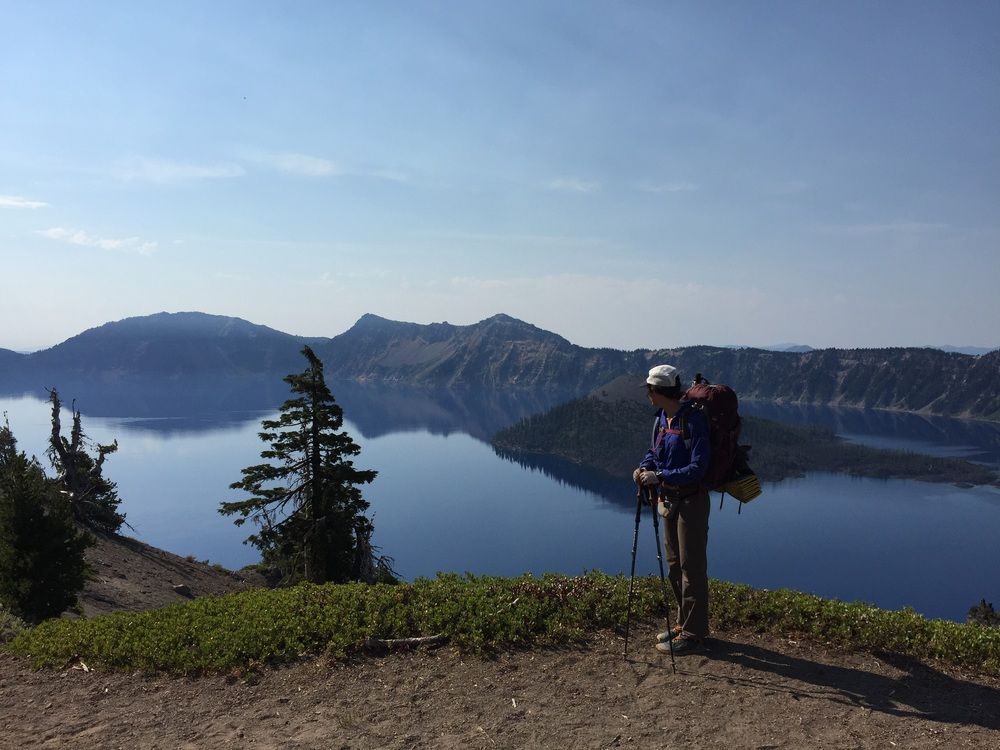 Our crater lake photo series begins