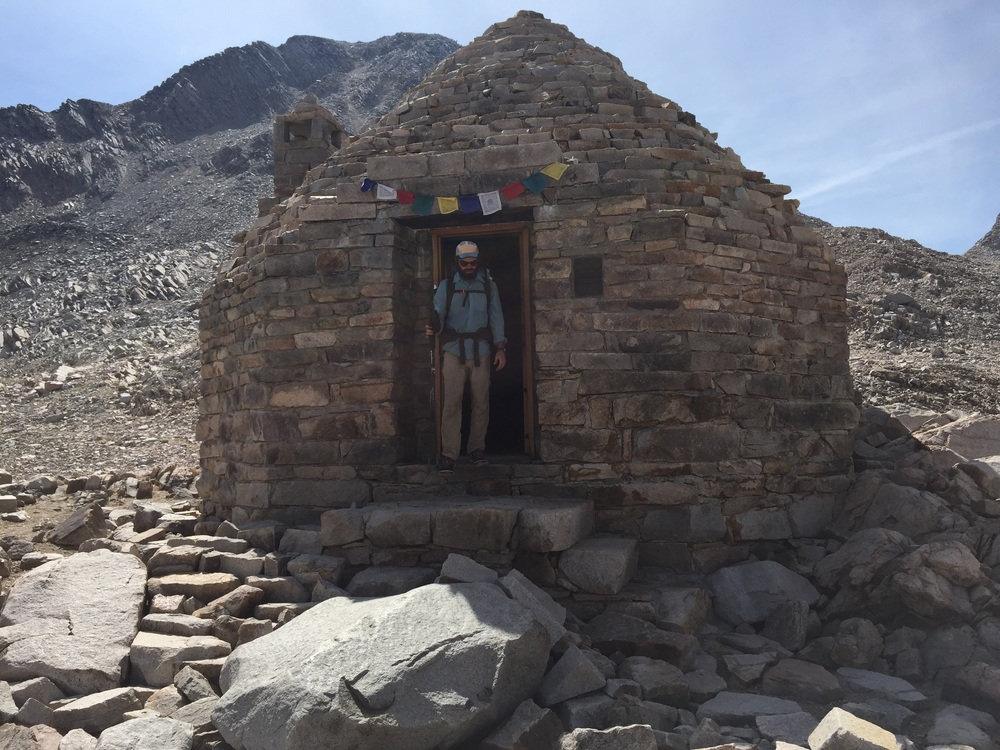 Muir Hut, sitting high at 11,955 feet