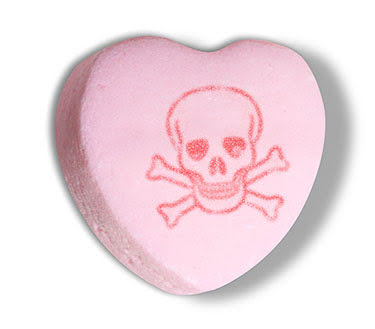 skull and crossbones candy heart