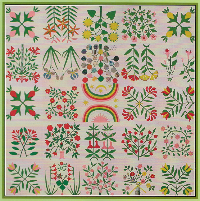 The Shenandoah Valley Botanical Album Quilt of 1858
