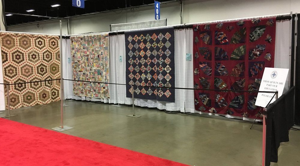 Educational quilts from the museum's collection are on display at the Expo.