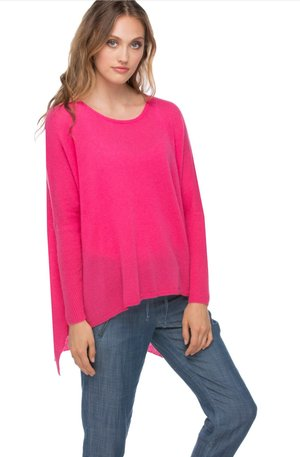Fuchsia Cashmere Sweater — FIG