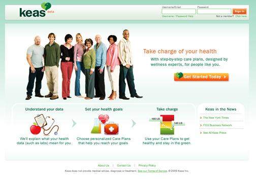Keas.com Homepage