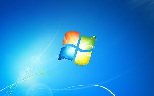 The default desktop for Windows 7. © Microsoft.