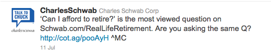 Charles Schwab - can I afford to retire