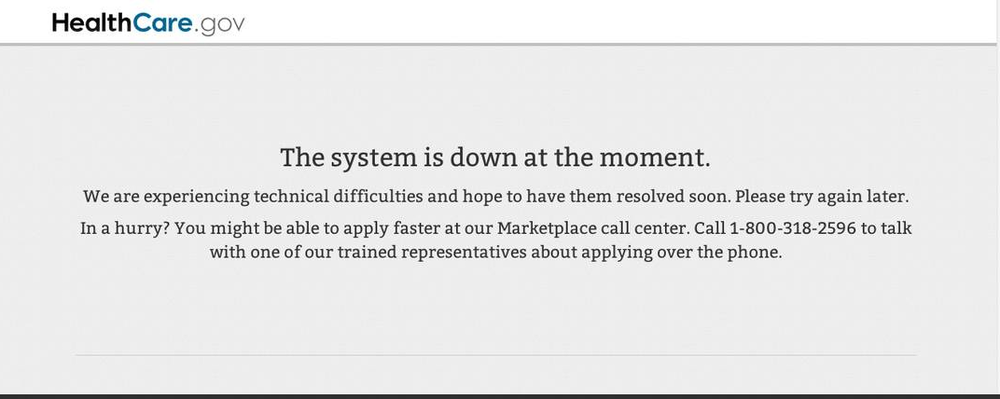 healthcaregov-error-message