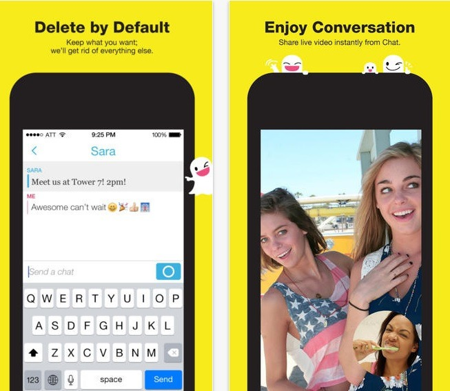 Snapchat is an image sharing social network focused on images being sent, then deleted upon viewing.