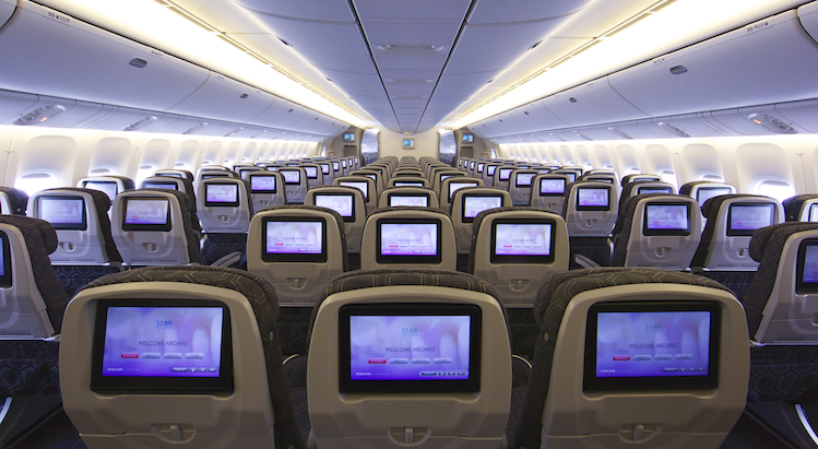 More and more airlines are looking to remove their backseat screens and use passengers tables and smartphones.