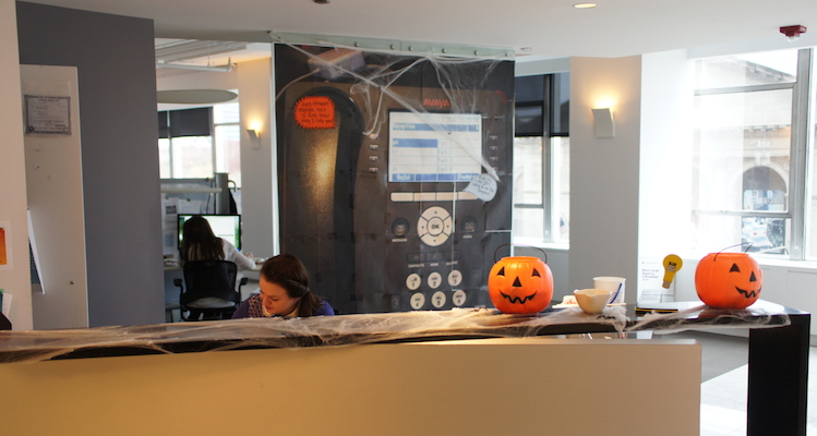 Magnani Front Desk Spooky