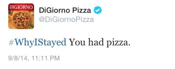 Digiorno Pizza used a hashtag without seeing what it pertained too first.