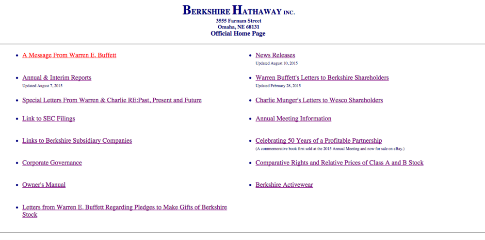 Berkshire Hathaway, Inc. is simply simple, which means it is too simple.