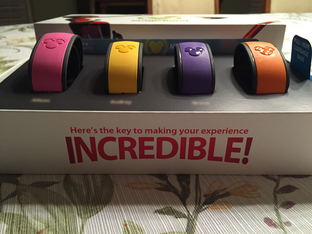 The arrival and unboxing of the Magic Bands.