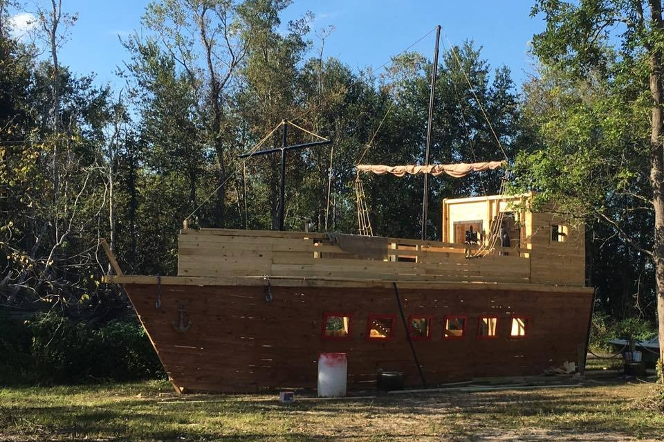 Sneak peak Dec 17th for Pirate's Gold!!! aaaaaarg!!! Take a trip back in time to Port Royal. A Pirate port with real pirate props. 40ft Pirate Ship, Docks, Small boats, Gallows, Prison, Cabins and much much more.