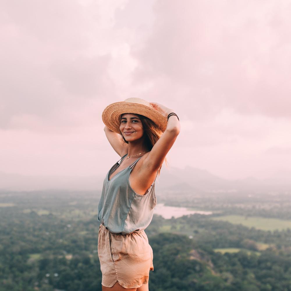 On the top of the Lion Rock, Sigiriya, Sri Lanka