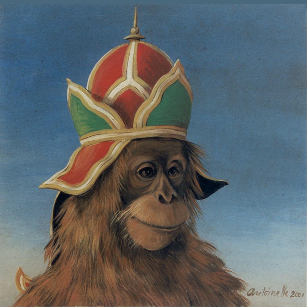 Monkeys with Headdresses