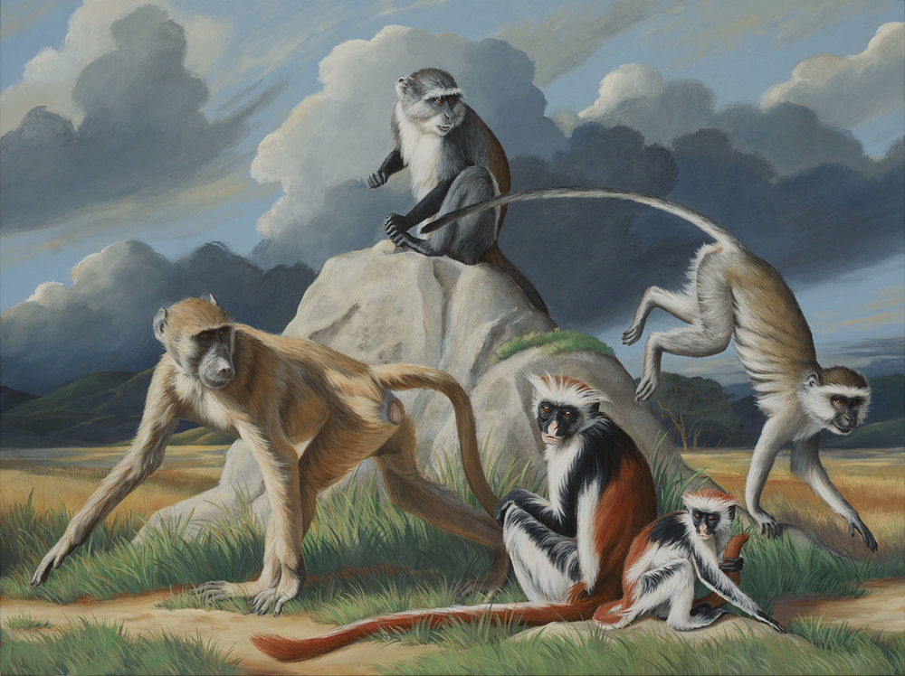East African Monkeys (left)