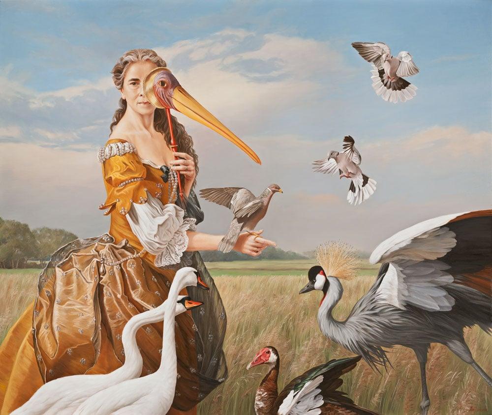 Bird Lady, self portrait