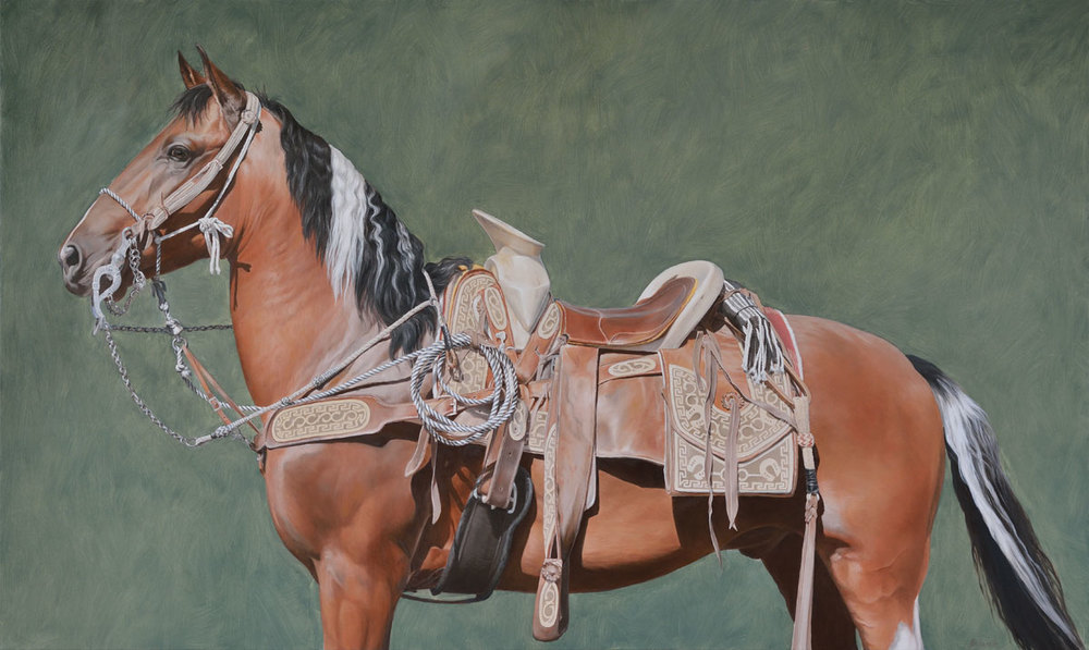 Mexican horse with saddle