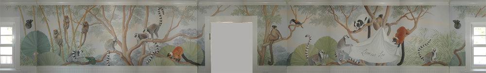 4 walls of the lemur loo, guest bathroom