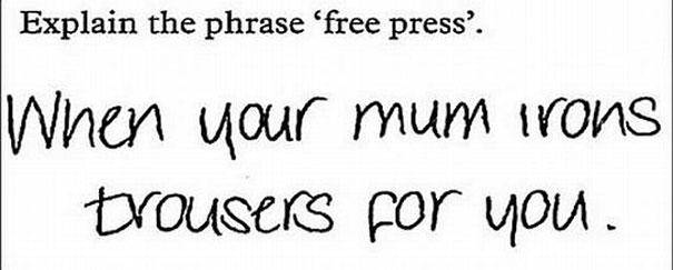 Between 'mum' and 'trousers,' this answer must be from Britain.