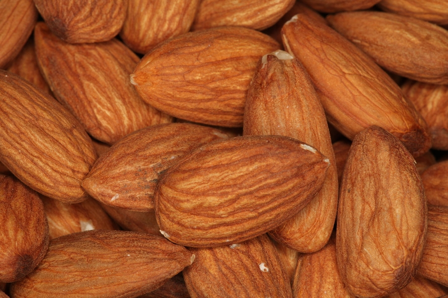Almonds are great alkalinizers and a good crunchy treat! For your own easy almond milk, soak overnight in filtered water, blend with some fresh water in a good blender, then strain and optionally, add honey or your favorite natural sweetener.