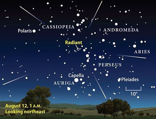 They are called Perseid Meteors because they radiate out of the Perseus constellation.