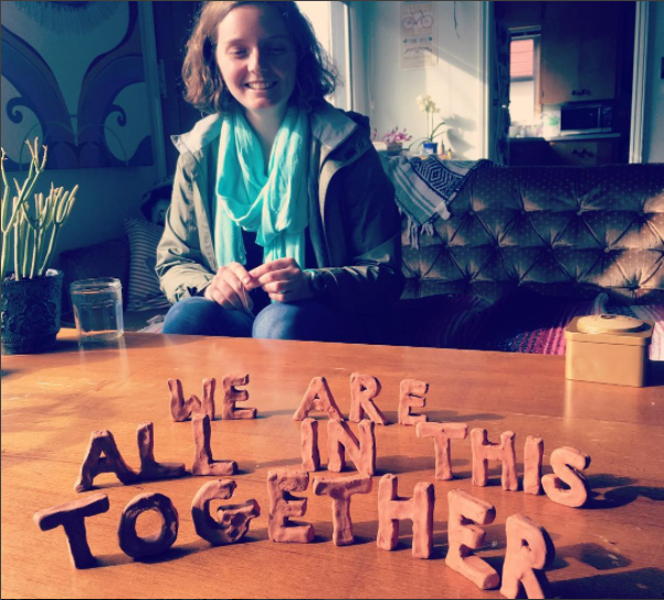 Photograph taken by Emma Cornwell (while participating in the  We are all in this together project )