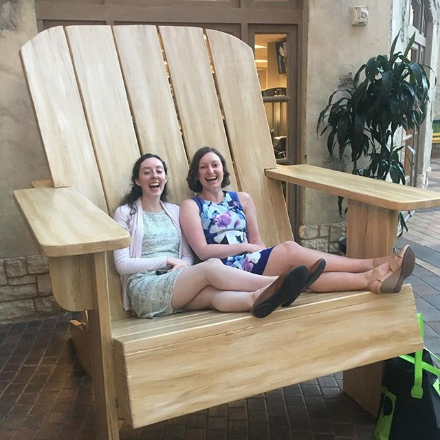 Comically large chairs that make us look/feel like children - we're into it 😄