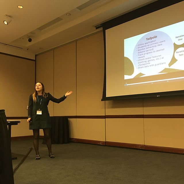 NBD, just Alli sharing her work designing for (and soon with) children in behavior disorder programs. Then later getting the whole room thinking deeply about how HCI researchers might engage with prison populations. Just another day for @allispiller 😎 #pervasivehealth2018