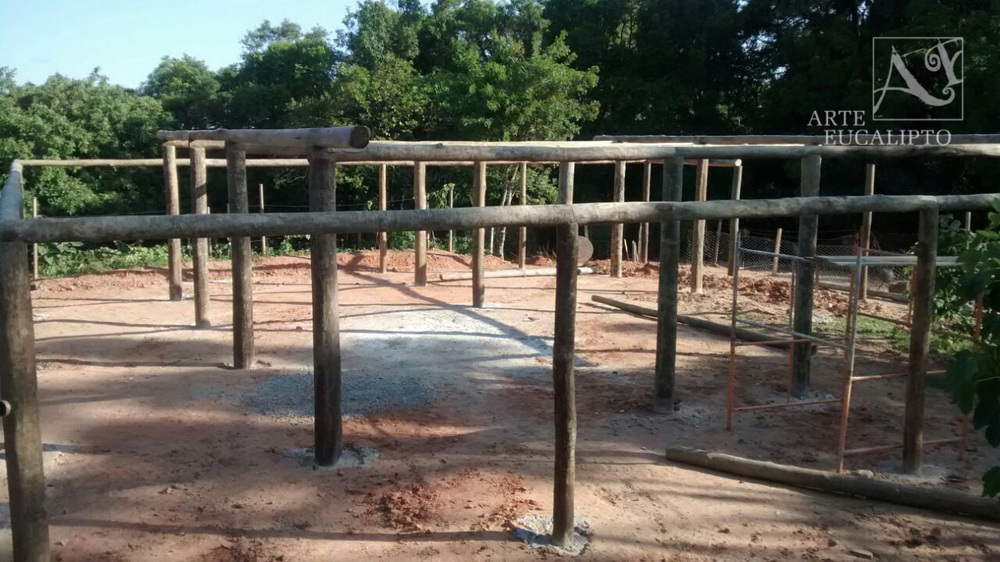 Inicio estrutural galpão Araucária - Pr