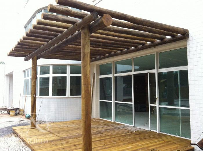 Pérgola + Deck Hall de entrada , Ecoville , Curitiba - Pr