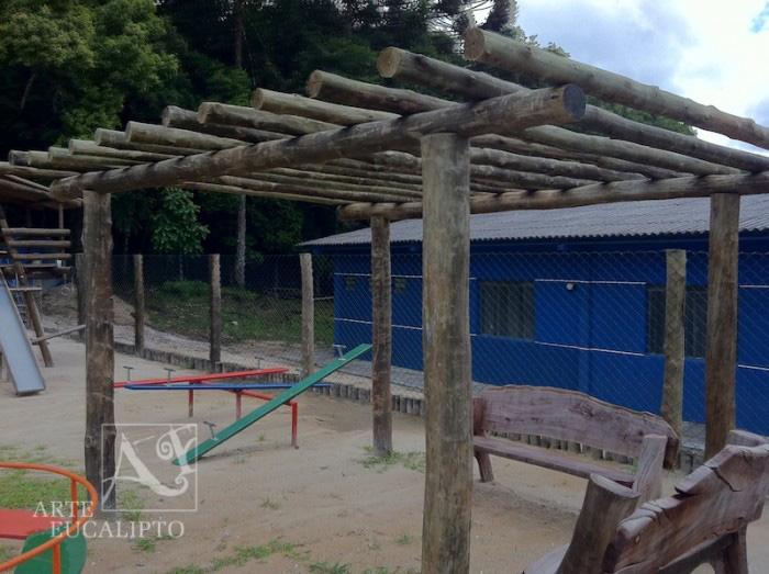 Pérgola compondo Playground , Sindicato , Colombo - Pr