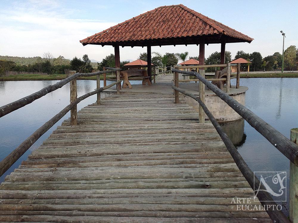 Ponte em troncos de Eucalipto Citriodora Autoclavado , Quatro Barras - Pr