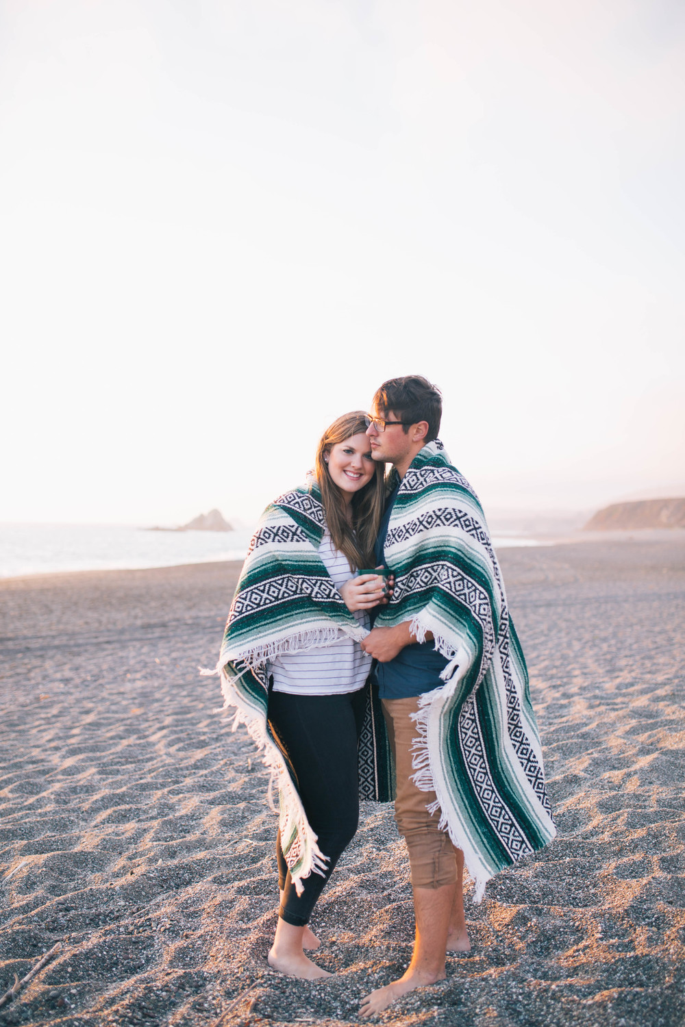 california-beach-couples-portrait-photographer-blanket-sunset