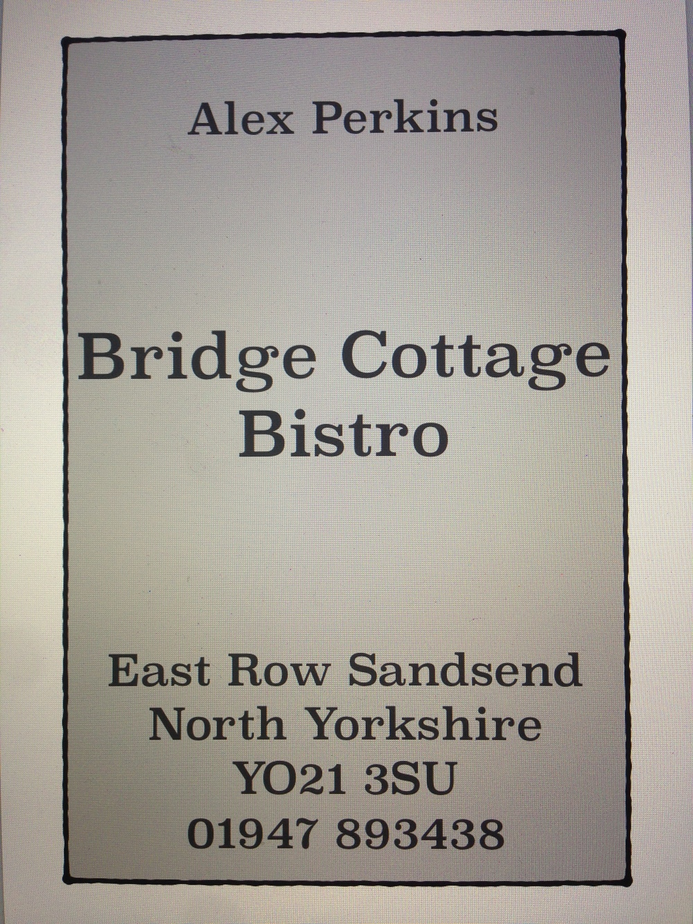 alex perkins bridge cottage bistro sandsend