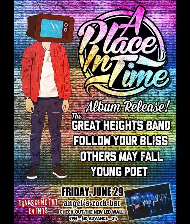 This is gonna be our big summer show. 4 birthdays to celebrate, A Place In Time is putting out an EP, we're gonna have a big announcement, and it's gonna be a rager of a show. Hit us up for tickets, we are quickly running out!