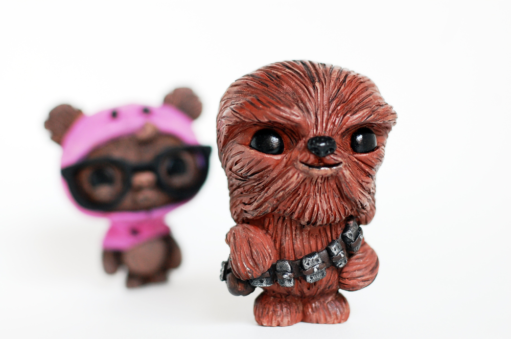 "Geekwok ""Pinky Edition"" & Barney the Wookie by Ume Toys."