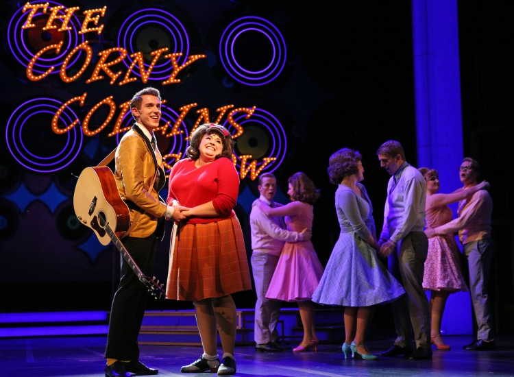 Amelia Jo Parish plays Tracy Turnblad and Henry McGinniss is Link Larkin - See more at: Broadway World