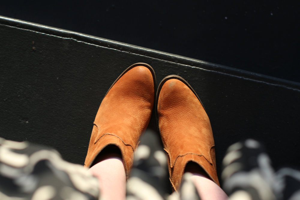 Can't beat $10 brand spankin new suede boots!
