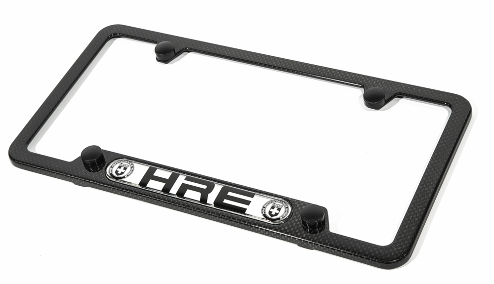 Genuine carbon fiber composite license plate frame.  Unparalleled fit, finish, and longevity.