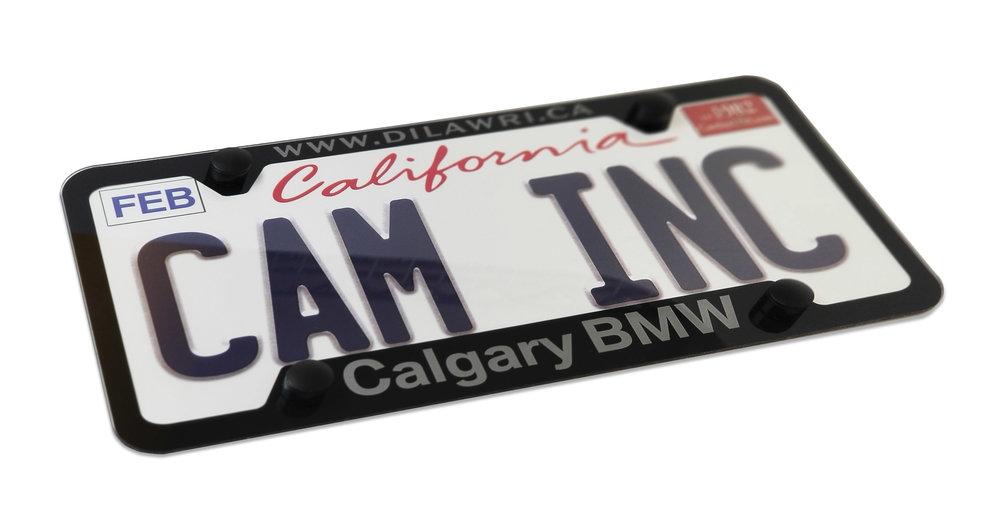 Custom Clear Calgary BMW Lexan Plate