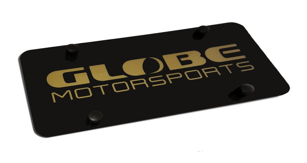 Custom Globe Motorsports Marque Plate