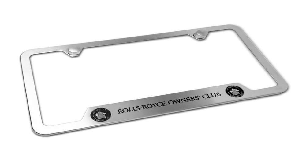 Custom Brushed Rolls Royce Owner's Club Frame